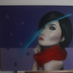 spraypaint on canvas